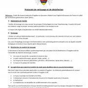 Protocole de nettoyage et de désinfection