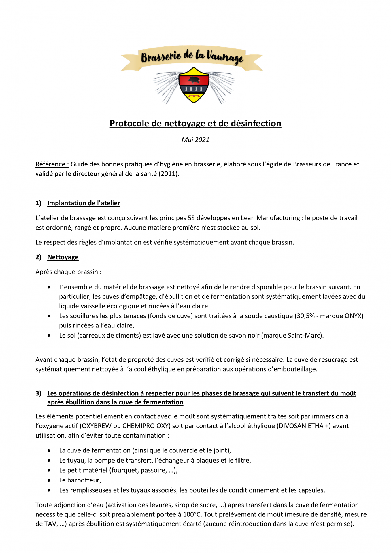Protocole de nettoyage et desinfection v2